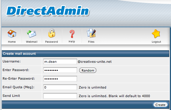 Creating an email address from Medialayer's cPanel