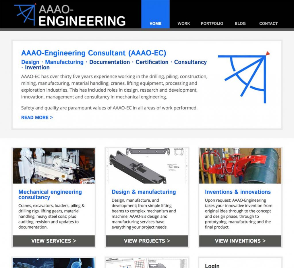 Engineering homepage.