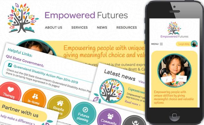 Empowered Futures website