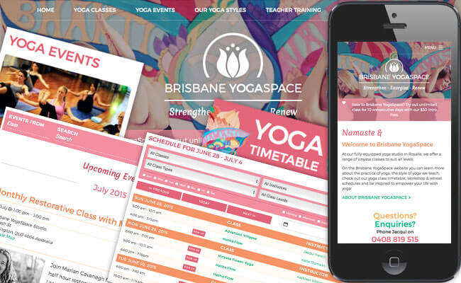 Brisbane YogaSpace website