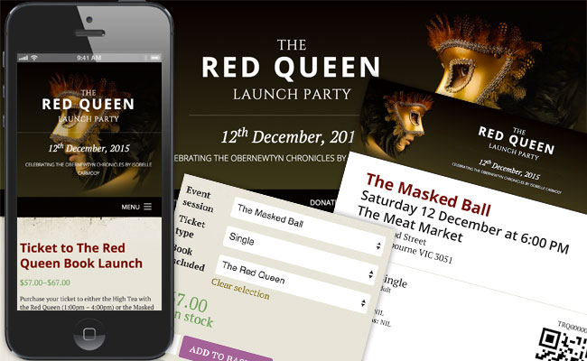 The Red Queen Launch website