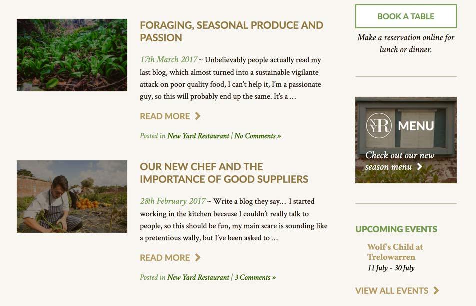 Chef's blog.