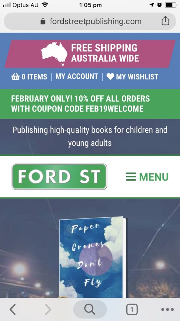The Ford Street site displays beautifully on handheld devices; a must as most librarians view publishing websites on their phones.